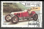 Stamps Afghanistan -  Race car in 1930