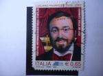 Stamps Italy -  Tenor Lírico:Luciano Pavarotti 1935-2007- Festival Internacional de la Filatelia.