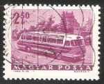 Stamps Hungary -  Tourist bus