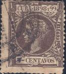 Stamps : America : Cuba :  Alfonso XIII
