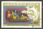 Stamps Hungary -  Viejo coche de correo