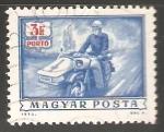 Sellos de Europa - Hungría -  Cartero en moto