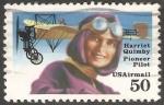 Sellos de America - Estados Unidos -  Harriet Quimby-pilote pionero