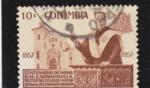 Sellos de America - Colombia -  CENTENARIO DE MONSEÑOR CARRASQUILLA RECTOR DEL COLEGIO NTRA.SRA.ROSARIO