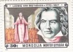Sellos de Asia - Mongolia -  LUDWIG VAN BEETHOVEN- compositor