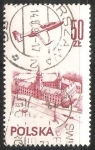Sellos de Europa - Polonia -  Plane over Warsaw castle