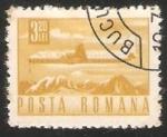 Sellos del Mundo : Europa : Rumania : Avion sobre las montañas