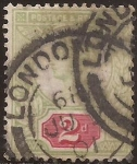 Sellos del Mundo : Europa : Reino_Unido : L Aniversario del reinado de la Reina Victoria  1887  2 pence