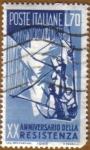 Stamps Italy -  XX Aniver. de la Resistencia