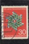 Stamps : Europe : Germany :  100 AÑOS SINDICATOS
