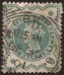 Sellos del Mundo : Europa : Reino_Unido : Reina Victoria   1900  1/2 penny