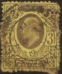 Sellos del Mundo : Europa : Reino_Unido : Eduardo VII  1902  3 pence
