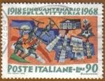 Stamps Italy -  Cincuentenario de la Victoria