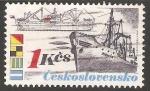 Sellos de Europa - Checoslovaquia -  Barco carguero