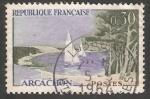 Sellos de Europa - Francia -  velero en  Arcachon
