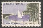 Stamps France -  velero en  Arcachon