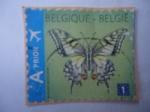 Sellos de Europa - Bélgica -  Mariposa Cola de Golondrina - Marijke Meersman (A prior)