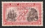 Sellos de Oceania - Nueva Zelanda -  Endeavour