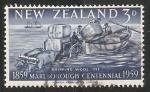 Sellos de Oceania - Nueva Zelanda -  Barco de lana