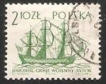 Sellos de Europa - Polonia -  Barco de linea