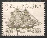 Sellos de Europa - Polonia -  19th Centuary Merchantman