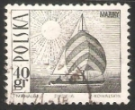 Stamps Oceania - Polynesia -  Amethyst yacht on Masurian Lake