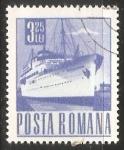 Sellos del Mundo : Europa : Rumania : Barco de pasageros Transylvania