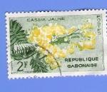 Sellos de Africa - Gabón -  CASSIA JAUNE