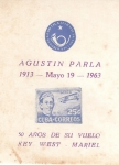 Stamps : America : Cuba :  Agustin Parla