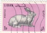 Stamps Lebanon -  c o n e j o