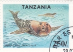 Stamps Tanzania -  Monachus tropicales