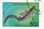 Stamps Tanzania -  tiburon tigre
