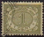 Stamps Netherlands -  HOLANDA INDIAS Netherlands Indies 1902 Scott 39 Sello Numeros Valores Numéricos