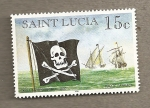 Stamps of the world : Saint Lucia :  Barcos piratas