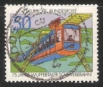Stamps Germany -  75 años del tren monorriel de suspensión