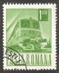 Stamps Romania -  Tren eléctrico a diesel