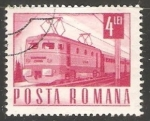 sellos de Europa - Rumania -  Tren electrico