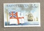 Stamps America - Saint Lucia -  Escuadrón de fragatas