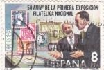 Sellos de Europa - España -  50 ANIV.1ª EXPOSICIÓN FILATÉLICA NACIONAL (29)
