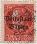 Stamps Germany -  Baviera Y & T Nº 120