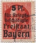 Stamps Germany -  Baviera Y & T Nº 172