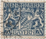 Stamps Germany -  Baviera Y & T Nº 21 [TS]