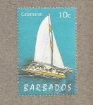 Sellos del Mundo : America : Barbados : Catamarán