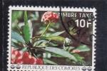 sellos de Africa - Comores -  F L O R E S- y CAMALEÓN