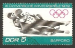 Stamps Germany -  1413 - Olimpiadas de invierno en Sapporo 1972, carrera de trineos
