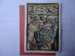 Sellos de Europa - España -  Ed:2162 -Claustro Rómanico del Monasterio de Santo Domingo de Silos (Burgos)