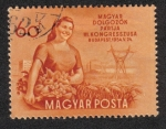 Stamps Hungary -  3º Congreso: Mujer con frutas