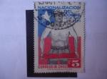 Sellos de America - Chile -  Nacionalización del Cobre. Ley N°17.450