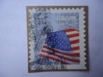 Stamps United States -  Bandera.