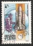 Sellos de Europa - Hungría -  Columbia shuttle, 1981
